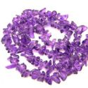 Beads, Gemstone, Amethyst, Royal purple, Irregular shape, 5mm - 10mm, 90cm strand, (SZZ0021)